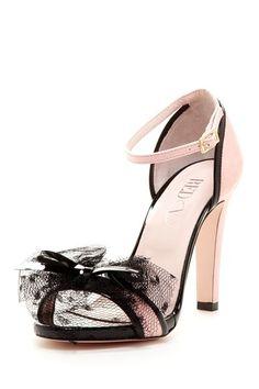 RED Valentino Polka Dot Mesh Bow Sandal by Designer Shoe Shop on @HauteLook