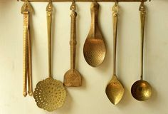 Make the most of your old ladles by hanging them as decor #DIY