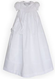 Dove Christening Gown and Smocked Bonnet for Baby Girls--Carousel Wear - 1