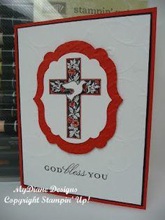 Confirmation card, cross, handmade card, Stampin Up