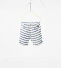 ZARA - KIDS - Striped Bermuda shorts