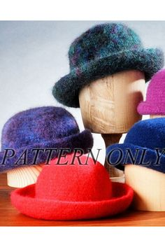 4c2133c7e7b Crocheted Felt Hat - in worsted weight  Pattern . Webs YarnFabric  YarnCrochet HatsKnitted HatsKnit ...
