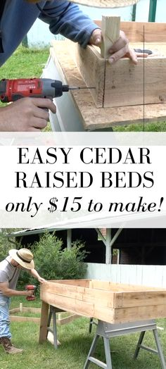 Rustic Home Interior How To Build A Raised Garden Bed For Cheap // inexpensive garden diy // farmhouse on boone.Rustic Home Interior How To Build A Raised Garden Bed For Cheap // inexpensive garden diy // farmhouse on boone Metal Raised Garden Beds, Raised Garden Bed Plans, Building Raised Garden Beds, Raised Gardens, Building Garden Boxes, Raised Garden Bed Design, Diy Garden Box, Cheap Garden Ideas, Elevated Garden Beds