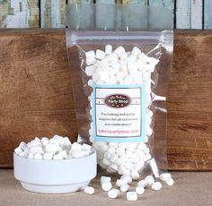Tiny Marshmallows, Marshmallow Sprinkles, Tiny Cake Pop Marshmallows, Tiny Marshmallows for Cupcakes, Hot Cocoa, Mini Doughnuts (small bag)