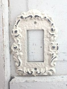 Metal Wall Decor Light Switch Cover Creamy Off by CamillaCotton, $12.50
