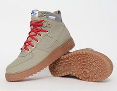 Nike Air Force 1 Duckboot Beige Red