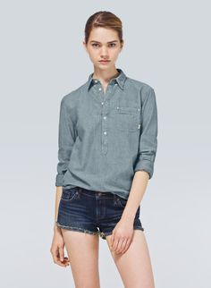 TNA VALLEJO SHIRT - $60 A chambray spin on a classic henley