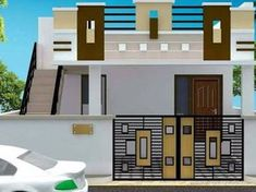 61 Trendy Ideas House Plans One Story With Basement Walks House Outer Design, House Front Wall Design, Single Floor House Design, House Outside Design, Village House Design, Kerala House Design, Bungalow House Design, Small House Design, Front Design