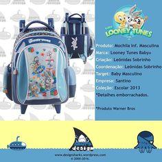 Muitíssimo capricho nesse desenvolvimento para essa coleção do Looney Tunes Baby. #looneytunes #looneytunesbaby #baby #warner #Warner #warnerbros #backpack #highschool #handbag #mochilas #mochilascarrinho #productdesign #projectdesign #graphicdesign #leonidasdesigner #acessorios #acessories #design # desenvolvimento #sharks