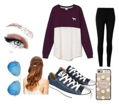 """""""style"""" by explorer-14392690638 ❤ liked on Polyvore featuring Victoria's Secret, Max Studio, Converse, Casetify and Ray-Ban"""