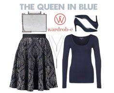 the queen in blue