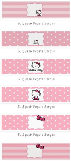 Water bottle labels--- http://bulutsmom.blogspot.com.tr/2015/04/hello-kitty-temal-dogum-gunu-susleri.html