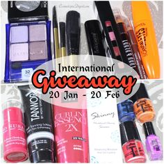 Win makeup and skincare! Beauty giveaway open worldwide.