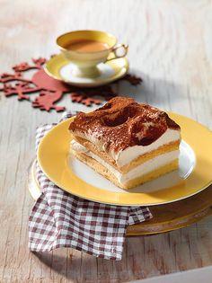 Mascarpone-Schnitten - Blechkuchen mit einer tollen Creme und eine Note von Amaretto zum Kaffee oder Tee