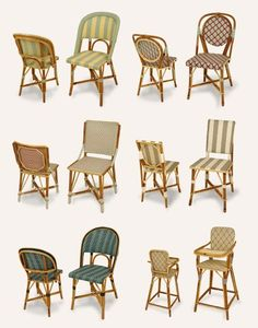 traditional Parisian cafe chairs via Design Mom