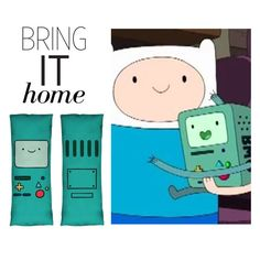 """Bring It Home: Adventure Time BMO Body Pillow"" by polyvore-editorial ❤ liked on Polyvore featuring interior, interiors, interior design, home, home decor, interior decorating and bringithome"