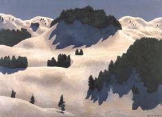 Mountain Art, Mountain Landscape, Winter Landscape, Mountain Paintings, Gustav Klimt, Winter Theme, Picture Design, Painting Techniques, Landscape Paintings
