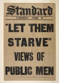 'Let them starve, views of public men, June 9' This headline refers to the response of the authorities to the problem of hunger striking suffragette prisoners.