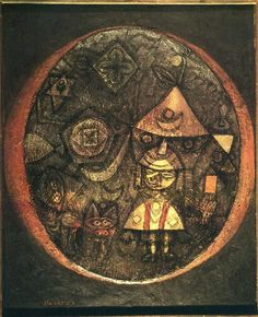 paul klee,a tiny tale of a tiny dwarf, 1925. increasing number of artists took for granted that what matters in art is to find ne solutions for what are called 'problems of form'. form always came before subject. he would start by relating lines, shade and colours to each other, until finding a 'right' balance. the same power which formed weird shapes of prehistoric animals. dream like freedom. work should 'grow,