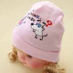 New Baby Hats Boys Girls Cotton Caps Photography Props Dog Prints Hat Spring Autumn Newborn Cap Toddler Beanies Baby Accessories