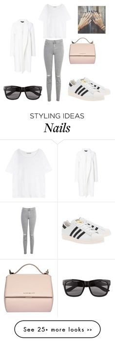 """""""Nail Art"""" by kcall123 on Polyvore featuring J Brand, Rochas, Acne Studios, adidas Originals, Givenchy and Vero Moda Simple Outfits, Cool Outfits, Casual Outfits, Fashion Outfits, Womens Fashion, Casual Shoes, Fall Winter Outfits, Spring Outfits, Superstar Outfit"""