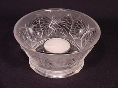 Lalique Crystal Candle Holder Sylphide Clear Style #1093900 NIB MSRP $650
