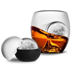 Roller Rock Glass. Use the ice mold and let the shaped whiskey glass guide the ice ball around the bottom of the glass. $21.95