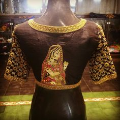 back blouse bridal