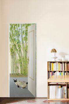 Papier peint Porte aux bambous