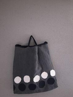 布と刺し子のコラージュbag                                                       …