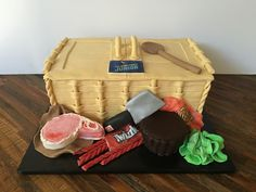 Chopped Jr Basket Cake: This cake was designed for a viewing party for a Chopped Jr's big premiere! All we knew when I made this cake was that the basket included some sort of pork, strong tasting candy, and a giant peanut buttercup. What a fun project!!!