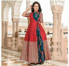 Details about Indian Bollywood Designer indo western gown Kurta Kurti women ethnic Shrug For Dresses, Indian Gowns Dresses, Long Dress Design, Ladies Dress Design, Western Dresses For Women, Embroidery Designs, Lady, Indian Fashion Trends, Kurti Designs Party Wear
