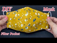 Diy Face Mask With Filter Pocket Create Easy Pattern From Dish Sewing Tutorial | วิธีทำหน้ากากอนามัย - YouTube Easy Homemade Face Masks, Easy Face Masks, Diy Face Mask, Sewing Hacks, Sewing Tutorials, Sewing Patterns, Diy Mask, Sewing Projects For Beginners, Fashion Sewing