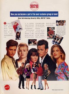 Beverly Hills, 90210 dolls, my sister and I had Kelly and Brenda. Joey Lawrence, Simpsons T Shirt, Jennie Garth, Love The 90s, Fox Kids, Johnny Carson, Shannen Doherty, Luke Perry, Beverly Hills 90210