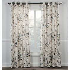 Enjoy classic floral style in any room with the Chatsworth Window Curtain. This lovely lined panel has top grommets that give it a modern touch and make opening and closing easy. It's perfect for adding privacy to any traditional or transitional interior.