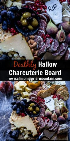 [original_tittle] – Formaticum [pin_tittle] Deathly Hallow Charcuterie Board is a festive and delicious way to get into the Halloween spirit! Halloween Appetizers, Halloween Dinner, Halloween Food For Party, Holidays Halloween, Halloween Treats, Halloween Foods, Spooky Treats, Halloween Recipe, Halloween Cupcakes
