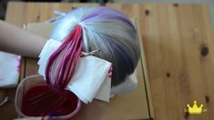 tutorial on how to dye a section of your cosplay wig with sharpie and rubbing alcohol