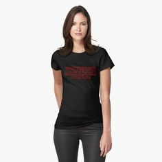 Stranger Things Womens T-Shirt Front  #tshirt #funnytshirt #strange #netflix #scifi #horror #winonaryder #davidharbour #series #tvshow  #tvseries #duffer brothers #strangerthings #secrets #supernatural #fantasy #program #finnwolfhard #scary #wierd #cool #logo #title #retro #TV #ufo