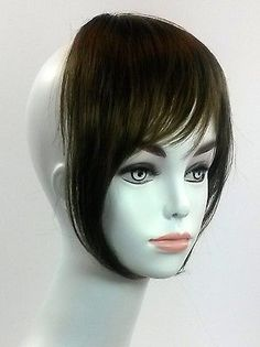 pixie haircut with bangs synthetic thick clip in on fringe hair 5478