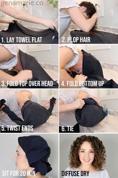 Plopping vs. Not Plopping. Does it make a difference? + How to Plop Curls - Gena Marie
