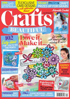 Don't miss the September 2015 edition of Crafts Beautiful! It's packed with amazing seasonal makes, from woodland crafts for the home to back to school paper aeroplane cards. We've also teamed up with The Range to bring you an exclusive Frozen project and giveaway - little ones will love it! Plus, don't miss our feature on the WI, where Deputy Editor Rosie attends a jam making course to celebrate the centenary. Happy crafting!
