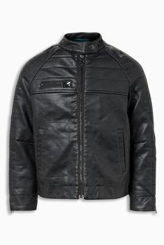 Купить Черная байкерская куртка (3-16 лет) from Next Ukraine 1990165c8f8bc