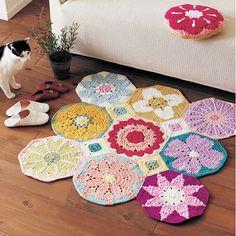 Crochet mat, just beautiful, another I need to have translated from japanese