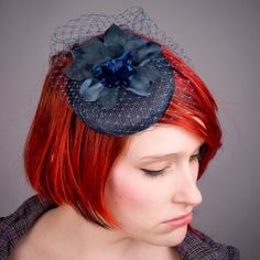 Navy Blue Flower Orchid FascinatorLarge by ImogensImagination, £45.00