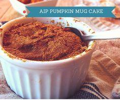 AIP Pumpkin Mug Cake // agirlworthsaving.net // #AIP #Pumpkin #paleo #primal #grainfree #glutenfree #dessert
