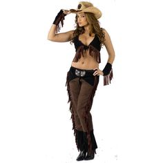 Sexy Cowgirl Halloween Costume | CricketSoda.com ❤ liked on Polyvore featuring costumes, halloween, cowboy, fantasias, western, sexy costumes, sexy cowboy costume, cowboy costume, cowgirl costume and western costume