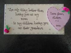 Personalised Only thing better Mum Nan Grandma Gift Plaque | KazKraftsUK MISI Handmade Shop