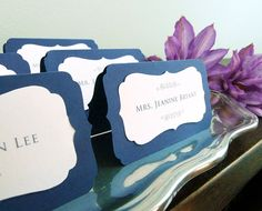 Wedding Place Cards Bracket Seating Tent with by WishDesignStudio, $40.00