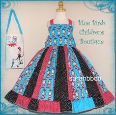 Cat in the Hat Dress and Purse  BBCB Boutique  not by sarahBBCB, $44.50
