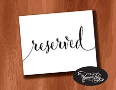 New to VeronicaFoleyDesign on Etsy: Instant Download Printable Wedding Sign Reserved Sign for Wedding  4x6 5x7 8x10 Wedding Signage Instant Download Printable Wedding Sign (4.00 USD)